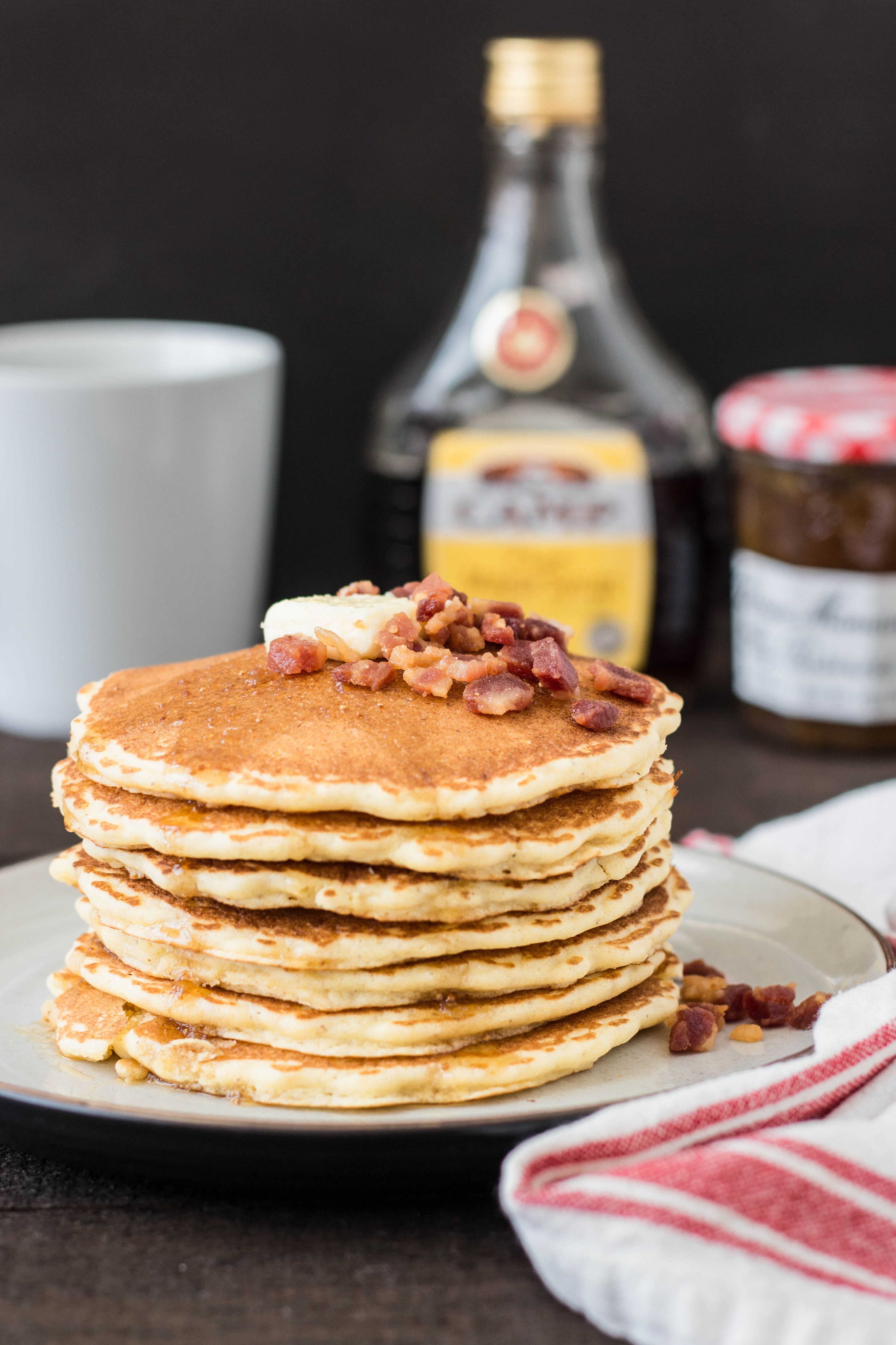 Cornmeal Pancakes with Pancetta & Fig-Maple Syrup - Brina ...